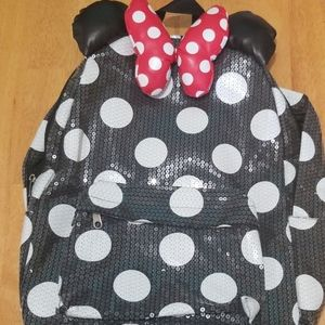 DISNEY Minnie Mouse Sequin Polka Dot Backpack